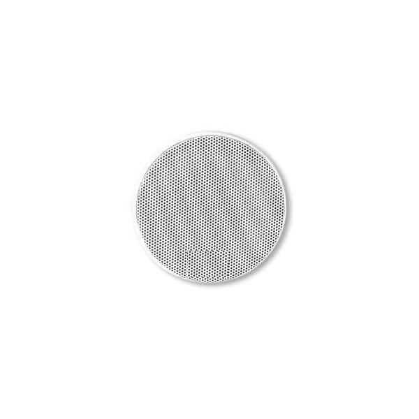 grille haut parleur universelle d100 ronde en blanc la piece auto prestige tuning. Black Bedroom Furniture Sets. Home Design Ideas