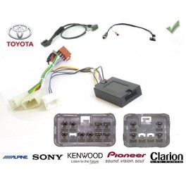 COMMANDE VOLANT TOYOTA YARIS 10/2011- - Pour Pioneer complet avec interface specifique