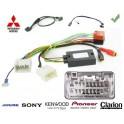 COMMANDE VOLANT Mitsubishi LANCER 2010- SANS AMPLI - Pour SONY complet avec interface specifique