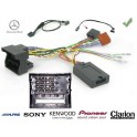 COMMANDE VOLANT Mercedes CLASSE C 2007- W204 FAKRA SANS AMPLI - Pour Pioneer complet avec interface specifique