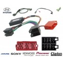 COMMANDE VOLANT Hyundai Tucson connecteur rectangulaire - Pour SONY complet avec interface specifique