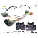 COMMANDE VOLANT Chevrolet Aveo 2008- Pour Pioneer complet avec interface specifique