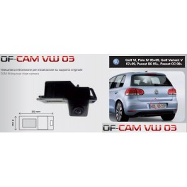 CAMERA DE RECUL INTEGREE DANS ECLAIRAGE PLAQUE VW POLO 2005-2009