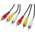 CABLE AUDIO VIDEO RCA 2,50m MALE MALE STANDARD