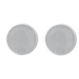 GRILLE HAUT-PARLEUR UNIVERSELLE D 165 RONDE BLANCHE (4219B) PAIRE