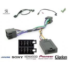 COMMANDE VOLANT Peugeot 206 2000-2002 - Pour SONY complet avec interface specifique