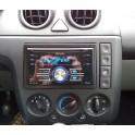 FACADE AUTORADIO DOUBLE DIN FORD FIESTA 2002-2005